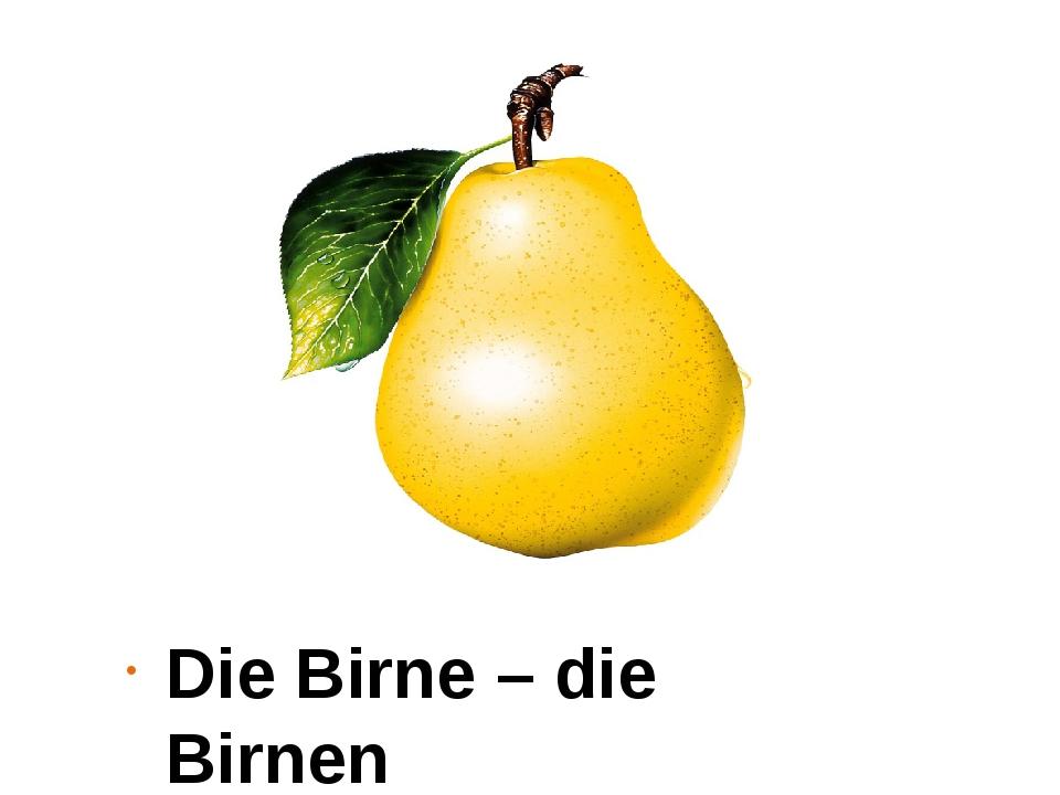 Die Birne – die Birnen