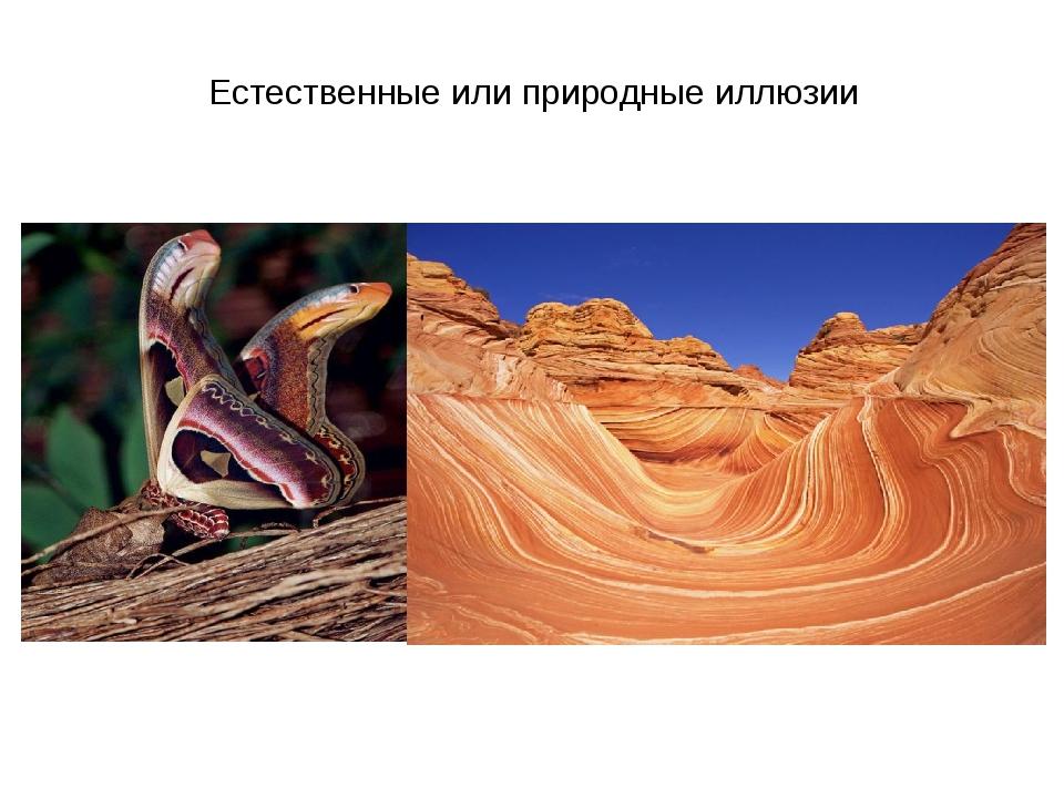 Естественные или природные иллюзии