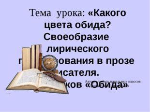 Автор: учитель начальных классов Деева Елена Николаевна Тема урока: «Какого
