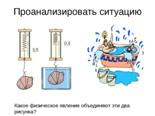 Проанализировать ситуацию Какое физическое явление объединяют эти два рисунка?
