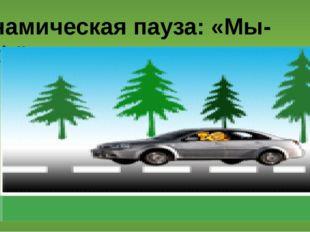 Динамическая пауза: «Мы-шофёры».