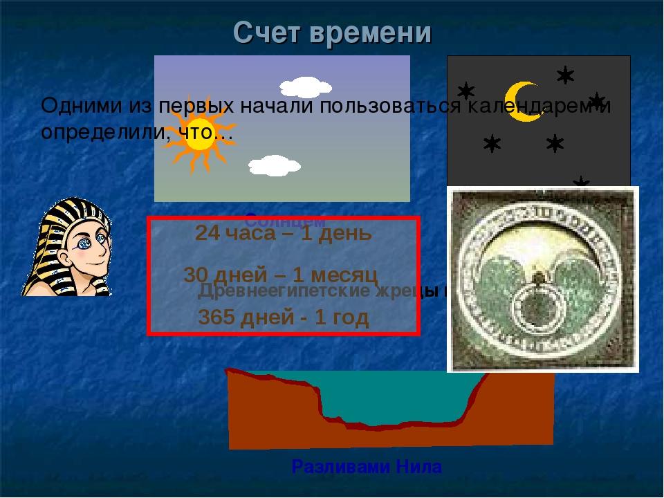 Древнеегипетские жрецы наблюдая за: Разливами Нила Солнцем Звездами Одними из...