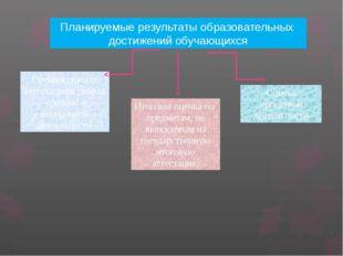 Планируемые результаты образовательных достижений обучающихся Промежуточная а