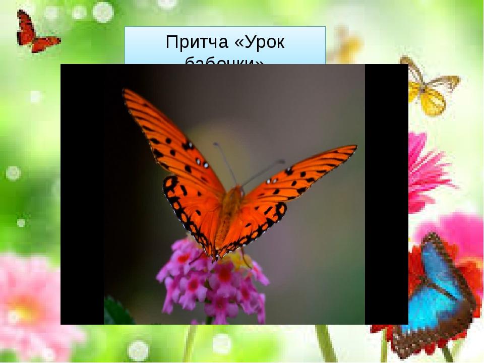 Притча «Урок бабочки» «Однажды в коконе появилась маленькая щель. Случайно пр...