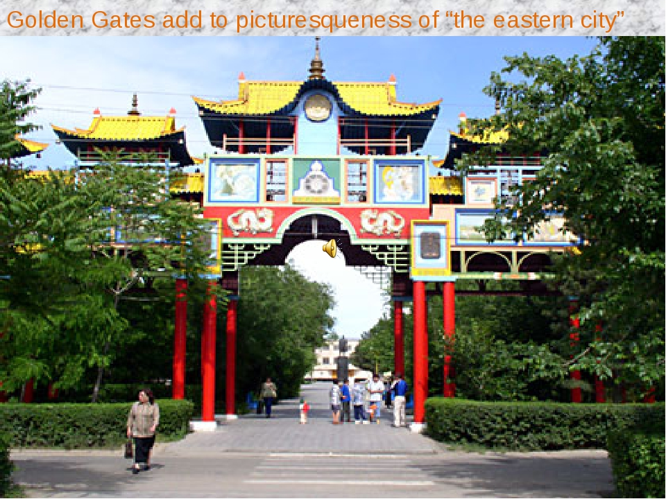 "Golden Gates add to picturesqueness of ""the eastern city"""