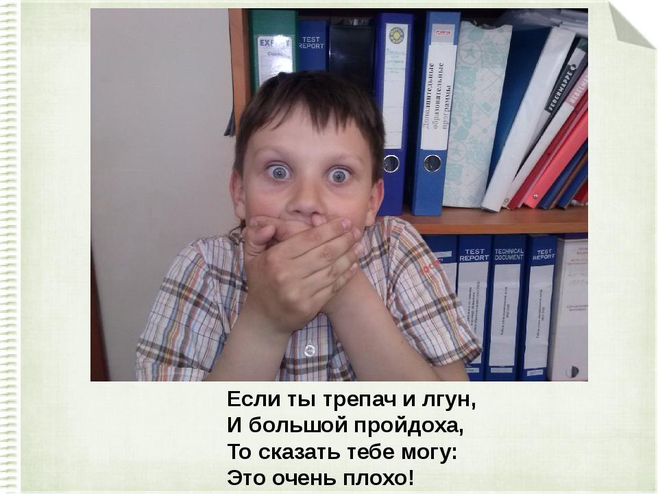 Если ты трепач и лгун, И большой пройдоха, То сказать тебе могу: Это очень п...