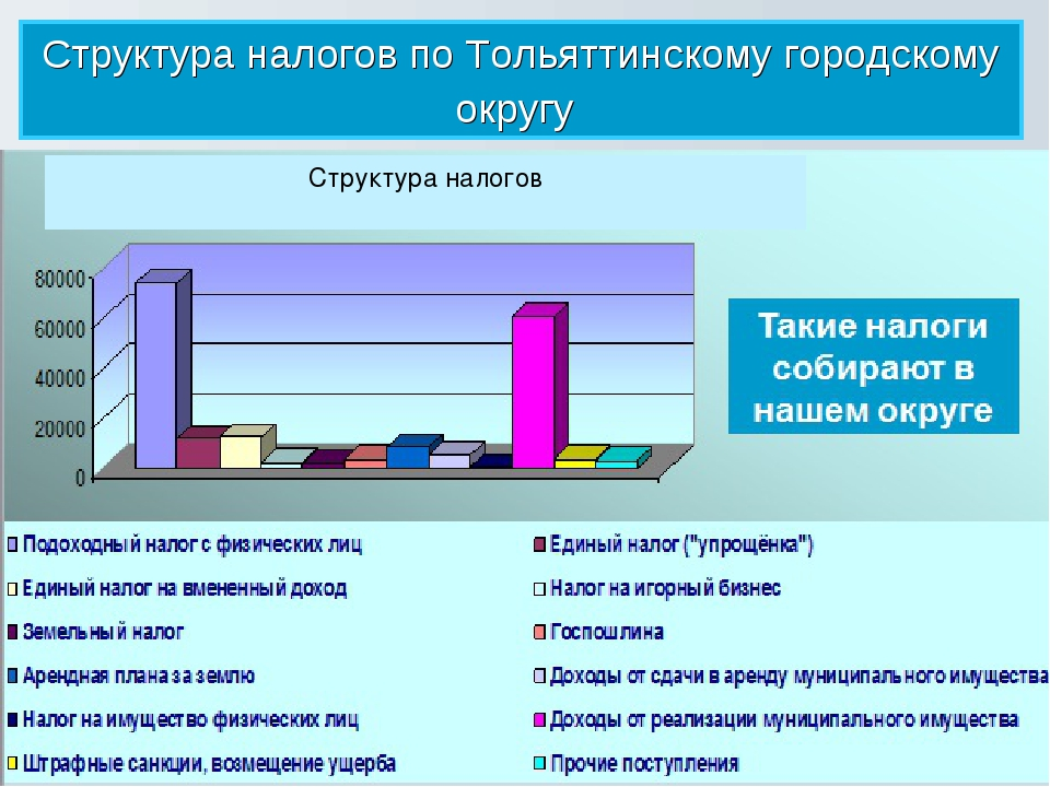 Структура налогов по Тольяттинскому городскому округу Структура налогов