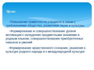 -Повышение грамотности учащихся в связи с требованиями общества, развитием н