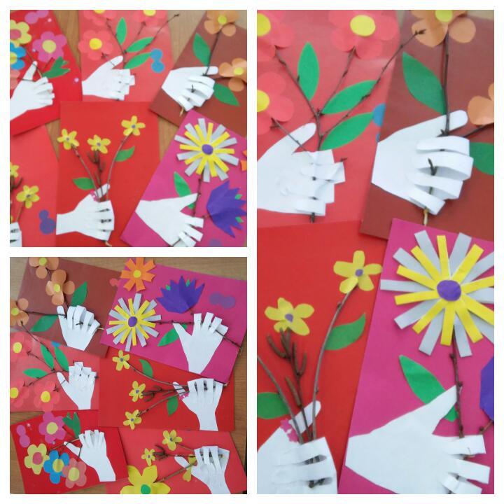 Для, урок технологии 2 класс открытка к 8 марта