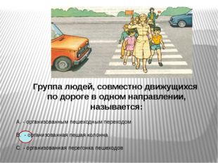 Группа людей, совместно движущихся по дороге в одном направлении, называется