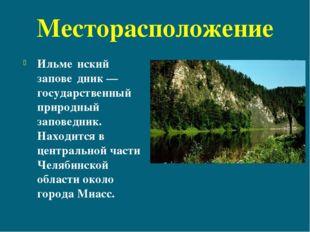 Месторасположение Ильме́нский запове́дник— государственный природный заповед