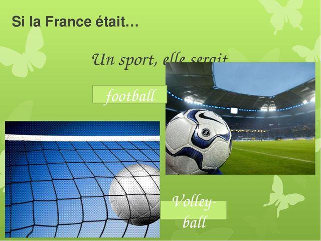 Si la France était… Un sport, elle serait football Volley-ball