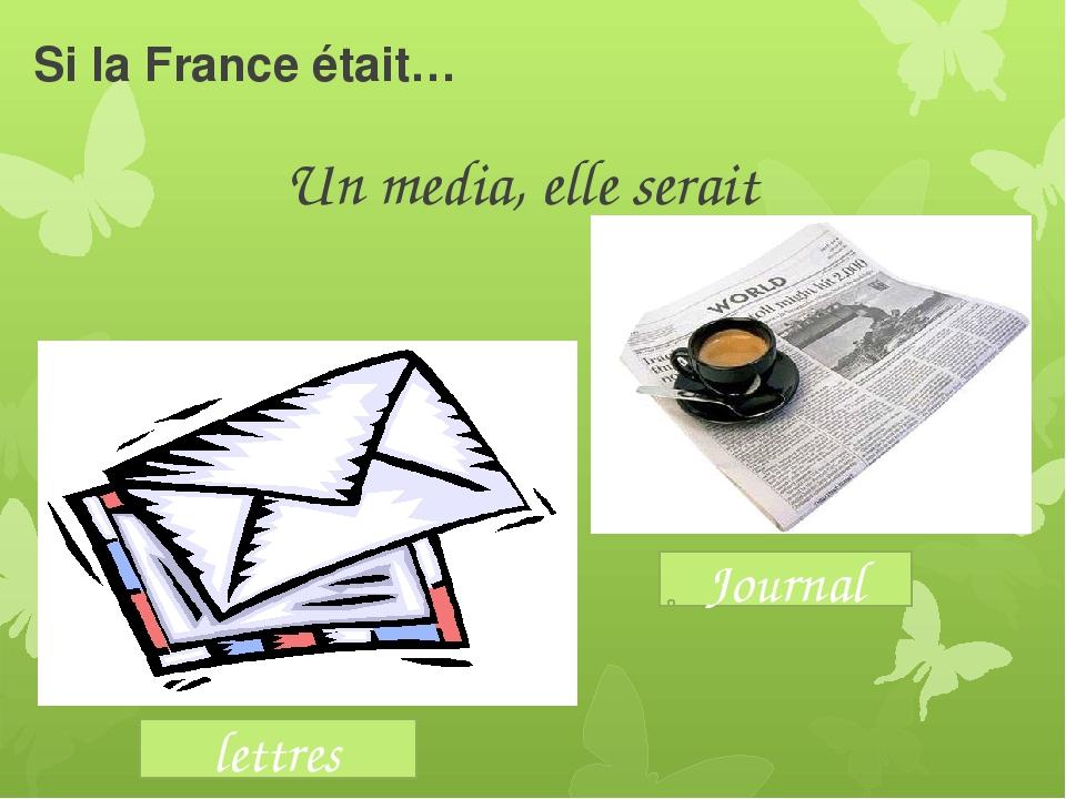Si la France était… Un media, elle serait lettres Journal