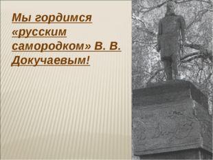 Мы гордимся «русским самородком» В. В. Докучаевым!