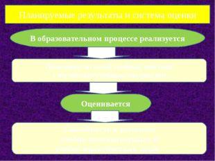 Планируемые результаты и система оценки В образовательном процессе реализуетс