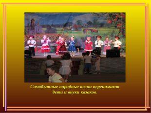 Самобытные народные песни перенимают дети и внуки казаков.