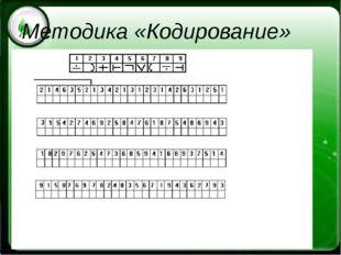 Методика «Кодирование»