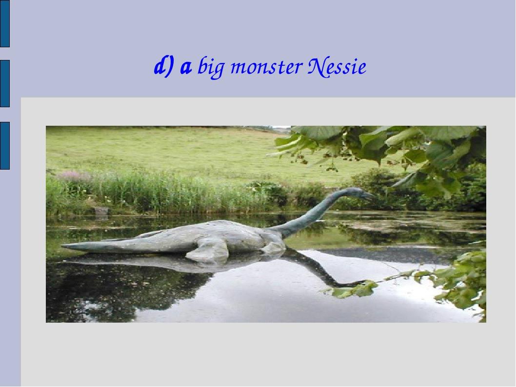 d) a big monster Nessie