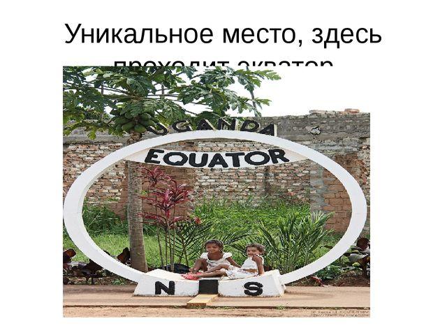 Уникальное место, здесь проходит экватор