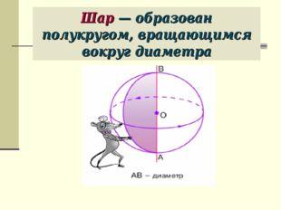 Шар — образован полукругом, вращающимся вокруг диаметра