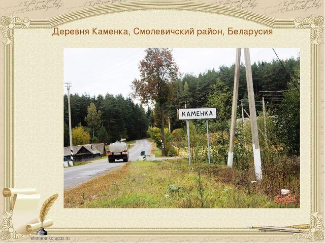 Деревня Каменка, Смолевичский район, Беларусия