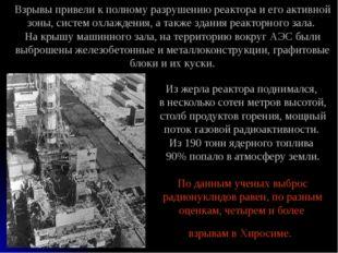 Из жерла реактора поднимался, в несколько сотен метров высотой, столб продукт