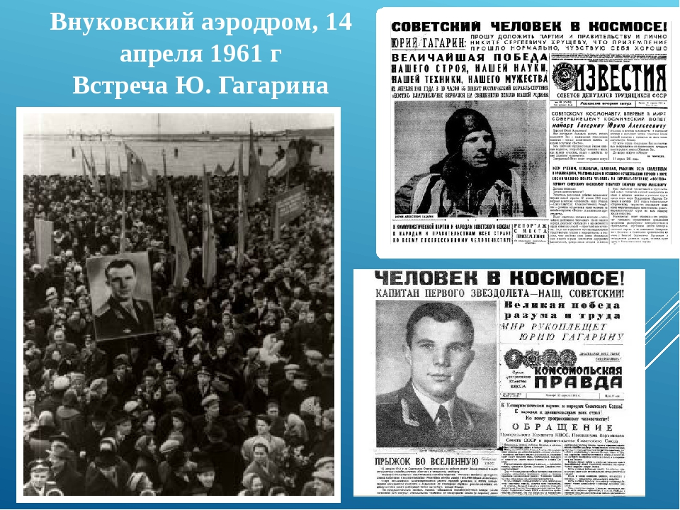 Внуковский аэродром, 14 апреля 1961 г Встреча Ю. Гагарина