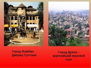 Город Фумбан. Дворец Султана Город Дуала – крупнейший морской порт