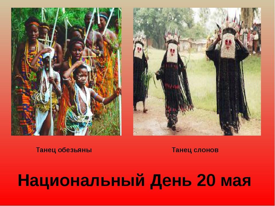 Танец обезьяны Танец слонов Национальный День 20 мая