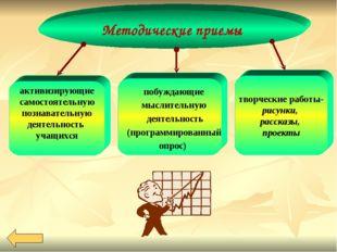 Методические приемы активизирующие самостоятельную познавательную деятельност