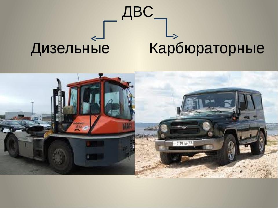 ДВС Дизельные Карбюраторные