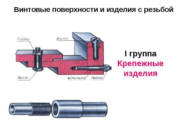 Винтовые поверхности и изделия с резьбой I группа Крепежные изделия