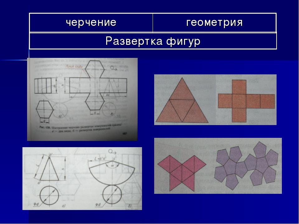 черчениегеометрия Развертка фигур
