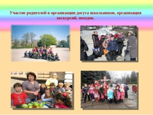 Участие родителей в организации досуга школьников, организация экскурсий, пое