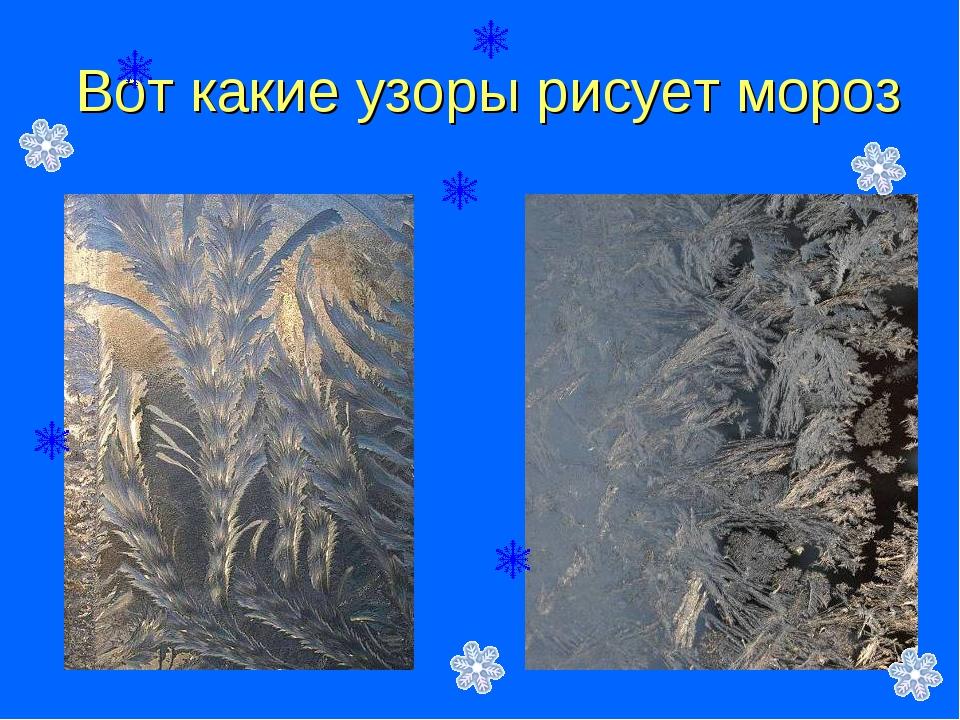 Вот какие узоры рисует мороз