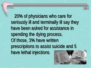 20% of physicians who care for seriously ill and terminally ill say they hav