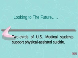 Two-thirds of U.S. Medical students support physical-assisted suicide. Lookin