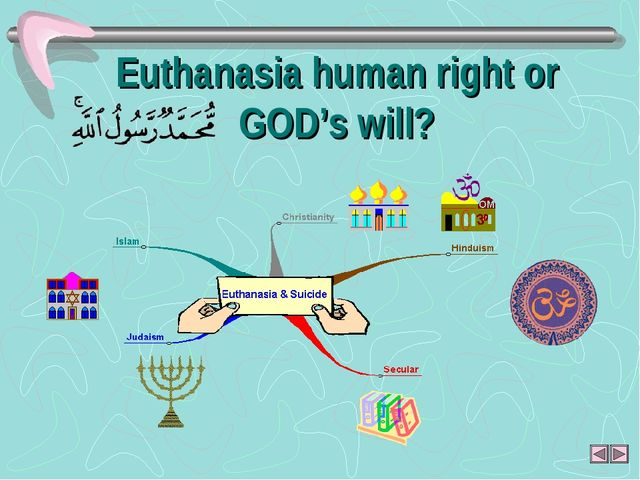 Euthanasia human right or GOD's will?