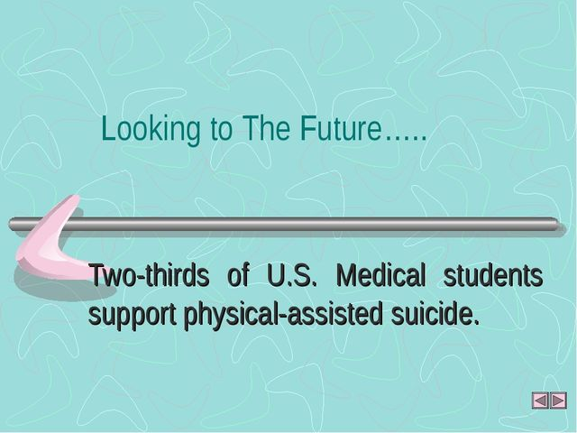 Two-thirds of U.S. Medical students support physical-assisted suicide. Lookin...