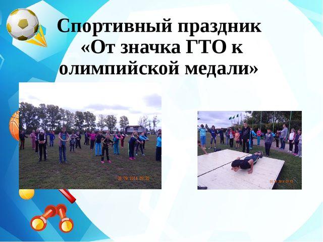 Спортивный праздник «От значка ГТО к олимпийской медали»