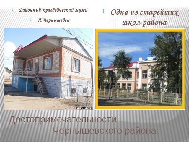 Достопримечательности Чернышевского района Районный краеведческий музей П.Чер...