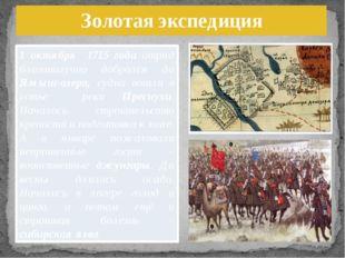 Золотая экспедиция 1 октября 1715 года отряд благополучно добрался до Ямыш-оз