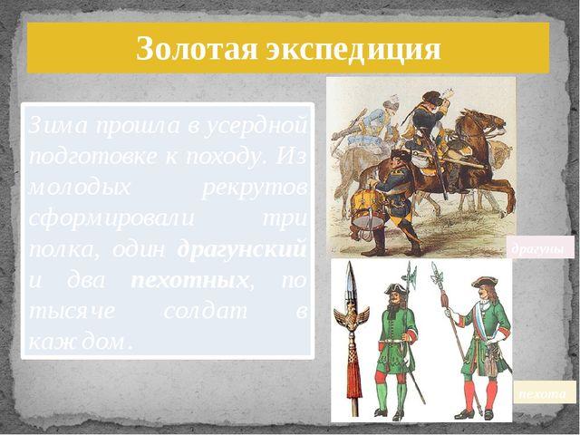 драгуны пехота Зима прошла в усердной подготовке к походу. Из молодых рекруто...