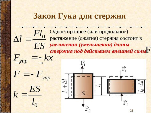 Одностороннее (или продольное) растяжение (сжатие) стержня состоит в увеличен...