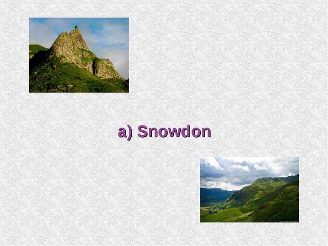 a) Snowdon