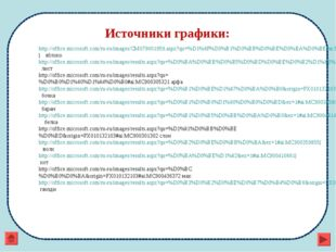 Источники графики: http://office.microsoft.com/ru-ru/images/CM079001959.aspx?