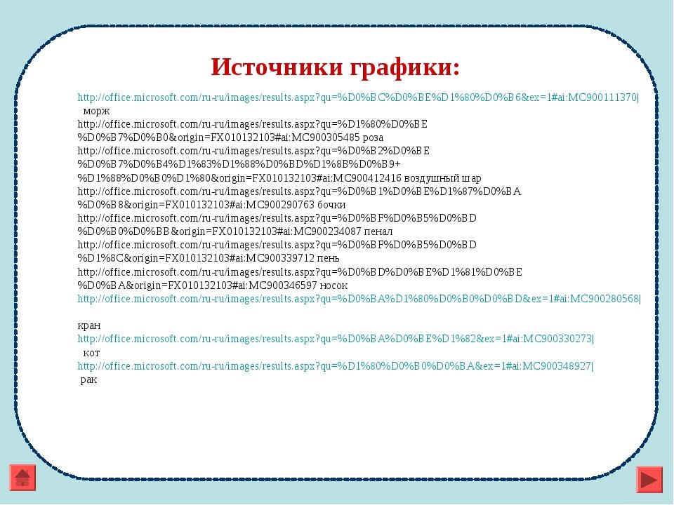 Источники графики: http://office.microsoft.com/ru-ru/images/results.aspx?qu=%...