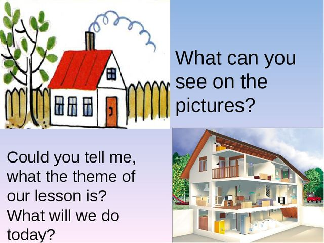 What can you see on the pictures? Could you tell me, what the theme of our le...