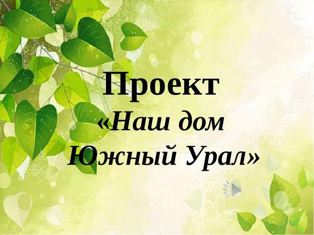 Проект «Наш дом Южный Урал»