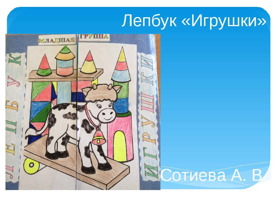 Лепбук «Игрушки» Сотиева А. В. Воспитатель МБДОУ № 96 Г. Владикавказ